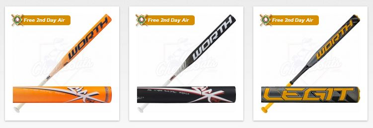 Worth Slowpitch Softball Bats for 2015